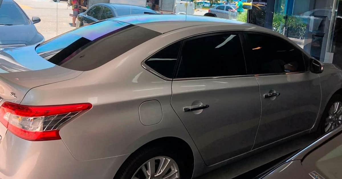 Insulfilm Automotivo aplicado em um Nissan Sentra na Zona Oeste do RJ
