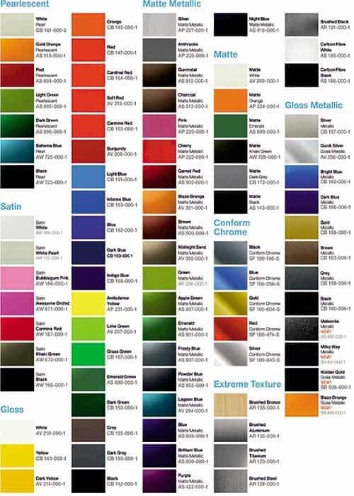 tabela-de-cores-envelopamento-de-carro
